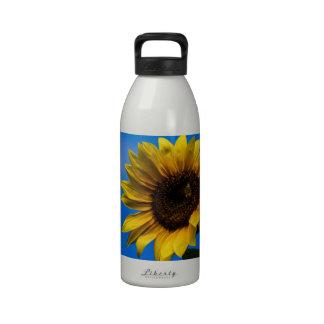 Girasol y abeja botellas de agua reutilizables