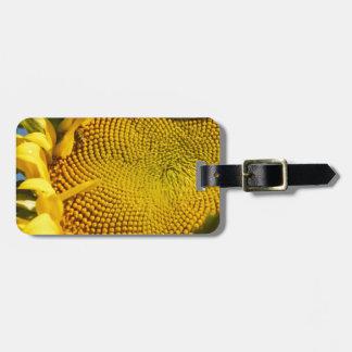 Girasol y abeja etiquetas de equipaje