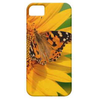 Girasol y mariposa iPhone 5 Case-Mate carcasa