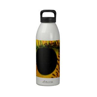 girasol y ojo botellas de agua reutilizables
