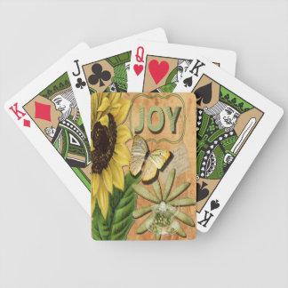 Girasol y torre Eiffel, alegría Baraja Cartas De Poker