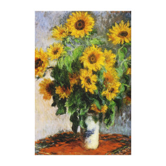 Girasoles, 1881 por Monet. Lona Envuelta Para Galerías