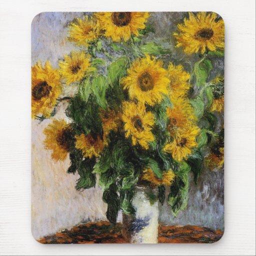 Girasoles, 1881 por Monet. Tapete De Ratón