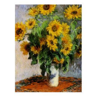 Girasoles, 1881 por Monet. Postal
