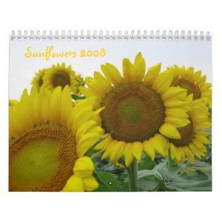 Girasoles 2008 calendarios de pared