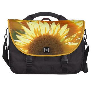 Girasoles amarillos bolsas de portatil