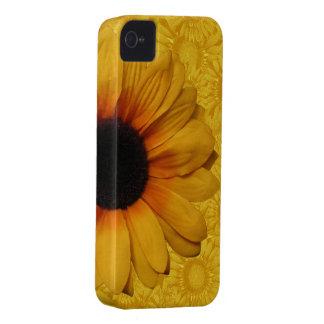 Girasoles amarillos hermosos Case-Mate iPhone 4 carcasa