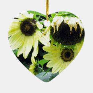 Girasoles amarillos limón ornamentos de reyes