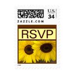 Girasoles amarillos RSVP que casa el sello V02