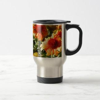 Girasoles anaranjados taza de café
