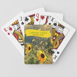 Girasoles antes de las nubes de tormenta cartas de juego