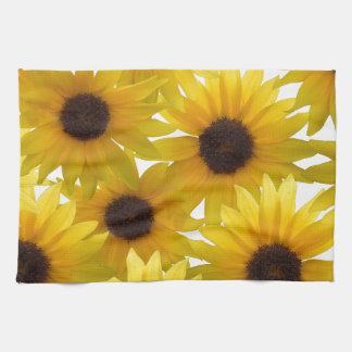 Girasoles audazmente soleados toallas de mano