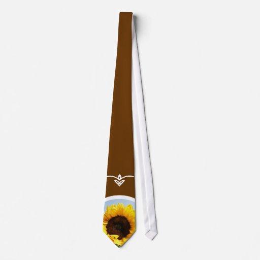 Girasoles Corbatas Personalizadas