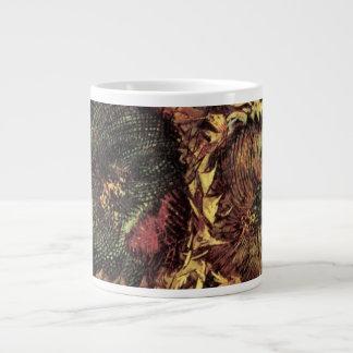 Girasoles cortados de Van Gogh 2, bella arte Taza Grande