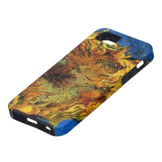 Girasoles cortados de Van Gogh dos, bella arte del iPhone 5 Carcasas