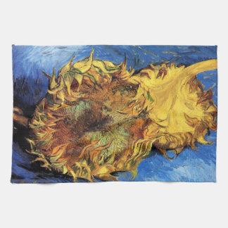 Girasoles cortados de Van Gogh dos Toalla De Mano