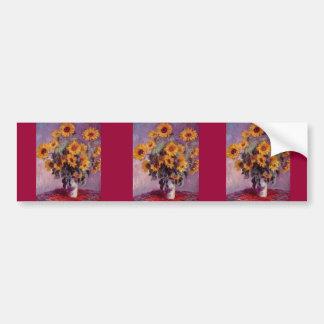 Girasoles de Claude Monet Etiqueta De Parachoque