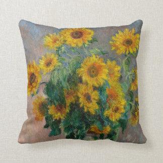 Girasoles de Claude Monet Almohada