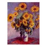 Girasoles de Claude Monet Postales