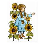 Girasoles de Dorothy del cuento de hadas de mago Tarjeta Postal