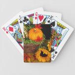 Girasoles de la cosecha de la caída cartas de juego
