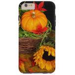 Girasoles de la cosecha de la caída funda para iPhone 6 plus tough