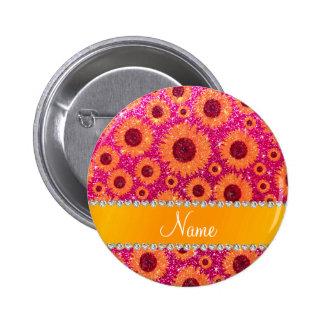 Girasoles de neón conocidos personalizados del pin