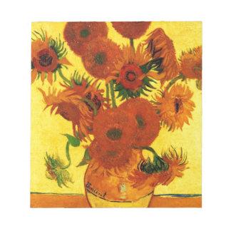 Girasoles de Van Gogh 15 Blocs De Notas