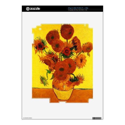 Girasoles de Van Gogh 15 iPad 2 Skins