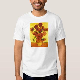 Girasoles de Van Gogh 15 Playera