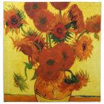 Girasoles de Van Gogh 15 Servilleta