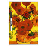 Girasoles de Van Gogh 15 Tableros Blancos