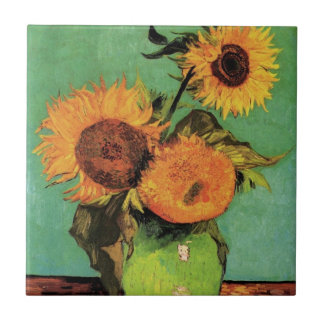 Girasoles de Van Gogh 3 en un arte floral del Teja