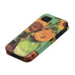 Girasoles de Van Gogh 3 en un arte floral del iPhone 4 Funda