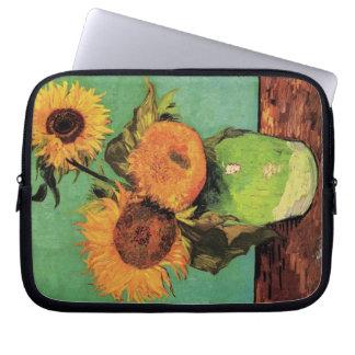 Girasoles de Van Gogh 3 en una bella arte del Funda Ordendadores