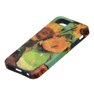 Girasoles de Van Gogh 3 en una bella arte del Funda Para iPhone SE/5/5s