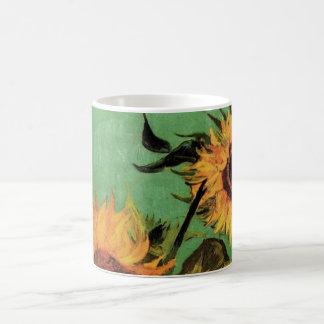Girasoles de Van Gogh 3 en una bella arte del Taza De Café