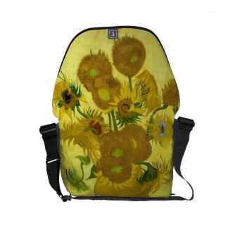 Girasoles de Van Gogh Bolsas De Mensajeria