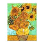 Girasoles de Van Gogh doce Lona Envuelta Para Galerias
