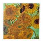 Girasoles de Van Gogh doce Tejas Cerámicas