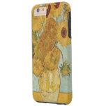 Girasoles de Van Gogh Funda De iPhone 6 Plus Tough