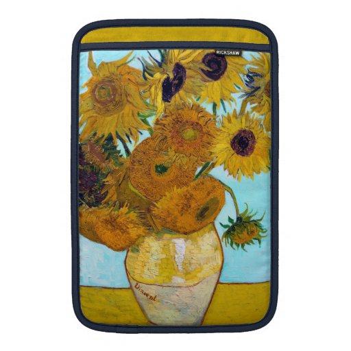 Girasoles de Van Gogh Funda MacBook