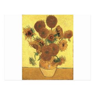 Girasoles de Van Gogh Postal