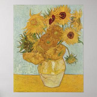 Girasoles de Van Gogh Póster