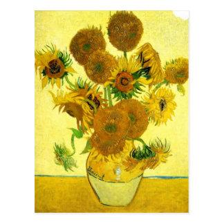 Girasoles de Van Gogh Tarjeta Postal