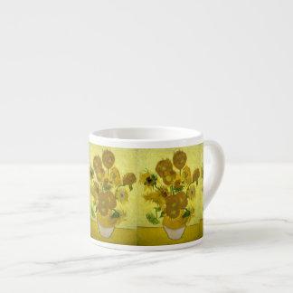 Girasoles de Van Gogh Taza Espresso