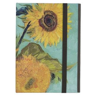 Girasoles de Van Gogh tres en un florero (F453)