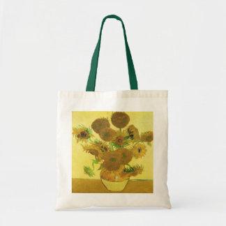Girasoles de Vincent van Gogh Bolsa Tela Barata
