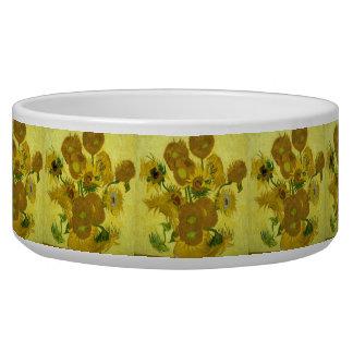 Girasoles de Vincent van Gogh Tazon Para Perro