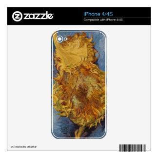 Girasoles de Vincent van Gogh el  , 1887 Calcomanías Para El iPhone 4S